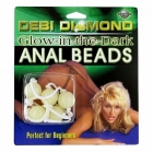Debi Diamond Anal Beads - Glow in the Dark