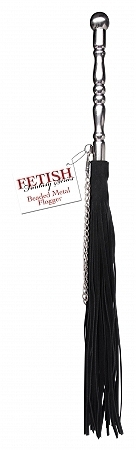 Fetish Fantasy Beaded Metal Flogger