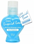 Mini Liquid Love Warming Massage Lotion Blue Raspberry 1.25oz