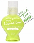 Mini Liquid Love Warming Massage Lotion Green Apple 1.25oz