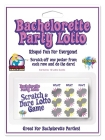 Bachelorette party lotto - pack of 12 cards