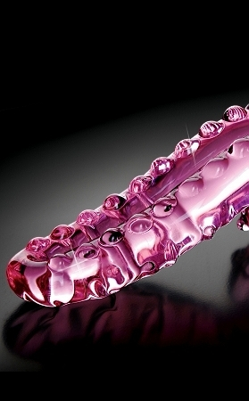 Icicles no. 24 hand blown glass massager - pink
