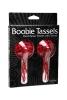 Boobie tassles hand sewn pasties w/tassles - red