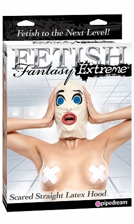 Fetish Fantasy Extreme Scared Straight Latex Hood