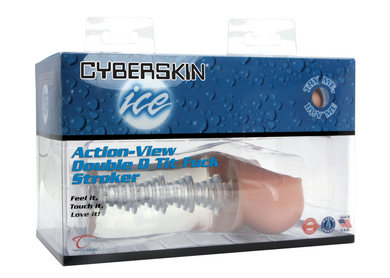 Cyberskin ice action-view double d tit fuck stroker