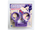 Japanese Silk Love Rope Ankle Cuffs, Purple