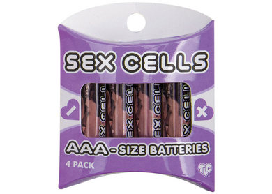 Sex Cells Aaa Size Batteries 4 Pack