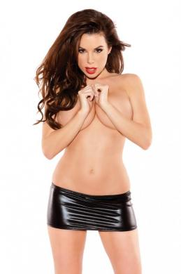 Kitten Mini Skirt Black O/S