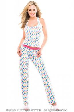 Pants Heart Print White (Med)