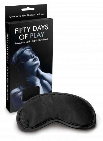 Fifty Days Of Play Blindfold Black Sex Toy Product