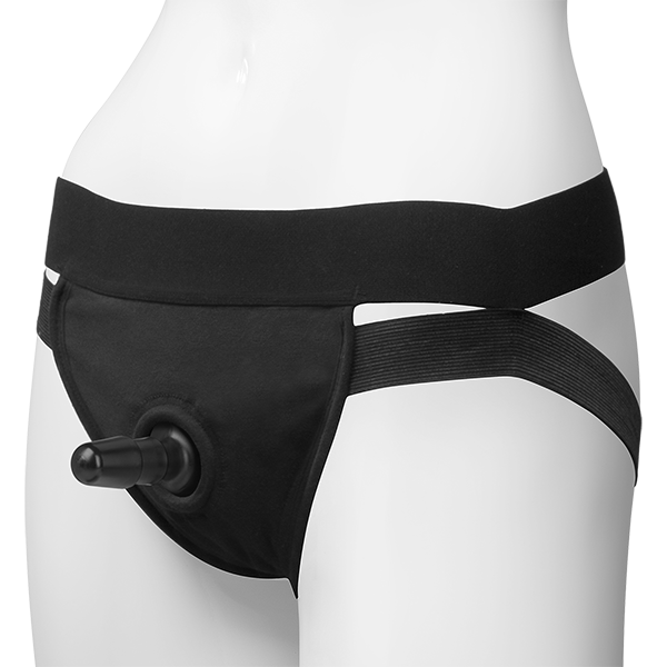 Vac-U-Lock Dual Strap Panty Harness Black S/M Sex Toy Product