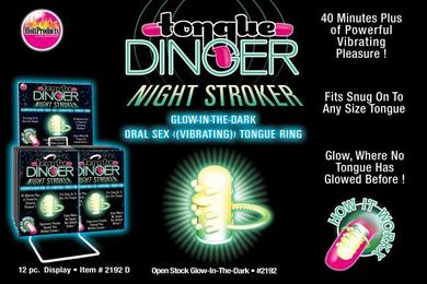 Tongue Dinger Glow In The Dark 12Pc Dsp.