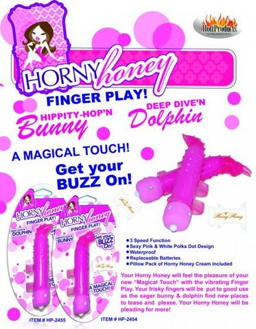 Horny Honey Finger Play Bunny Magenta