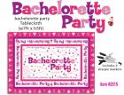 Bachelorette Party Tablecloth Trivia Sex Toy Product
