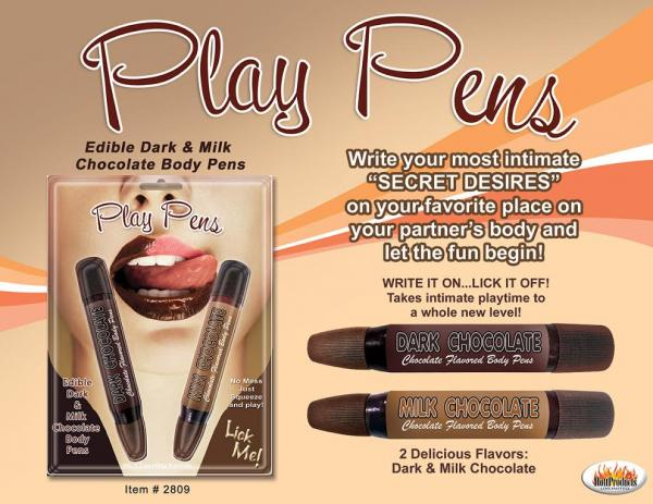 Chocolate Play Pens 2 Pack Sex Toy Product