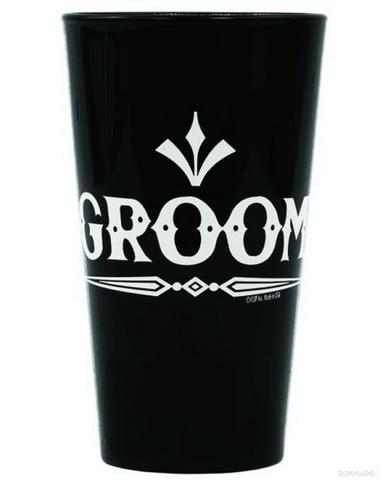 Rock Groom Pint Glass Black