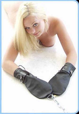 Bondage Mittens Leather Sex Toy Product