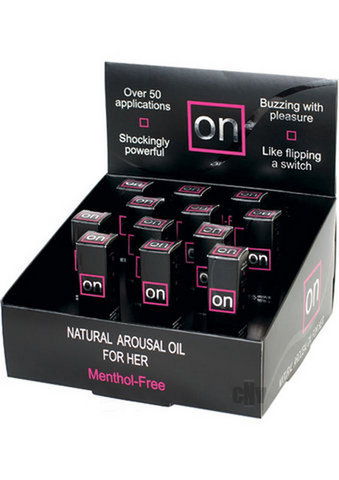On Arousal Oil 5ml 12 bottle display