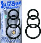 Super Silicone Cockrings Black