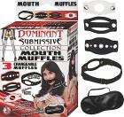 Dominant Submissive Mouth Muffle Black