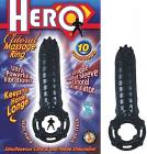 Hero Cockring and Clit Massager Black