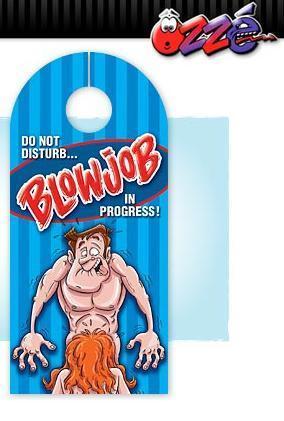 Blowjob In Progress Door Hanger
