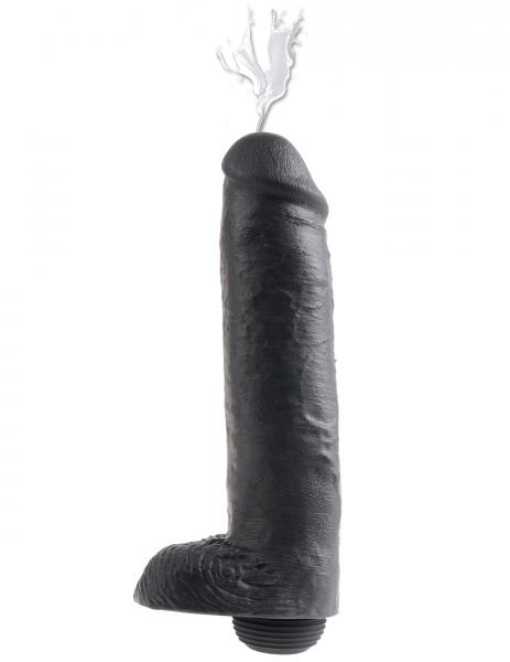 King Cock 11 inches Squirting Black Dildo Sex Toy Product