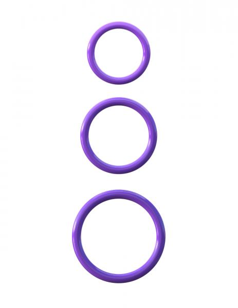 Fantasy C-Ringz Silicone 3 Piece Stamina Set Purple Sex Toy Product