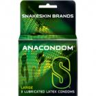 Anacondom Large Latex Condoms 3 Pack