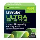 Lifestyles Ultra Sensitive Latex Condoms 40 Pack Sex Toy Product