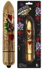 Bullet Gold Metallic Hearts & Roses Vibrator Sex Toy Product