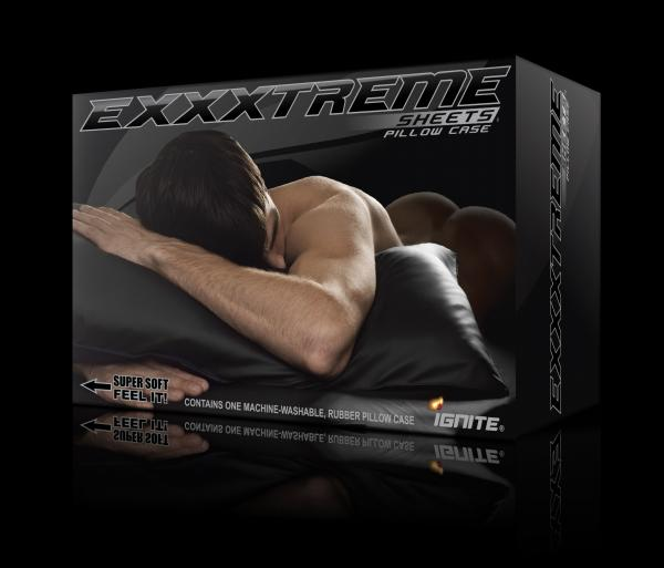 Exxxtreme Sheets Pillow Case King Black Sex Toy Product