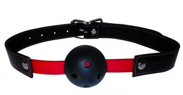 Manbound Red Black Ball Gag O/S Sex Toy Product