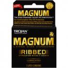 Trojan Magnum Ribbed Latex Condoms 3 Pack