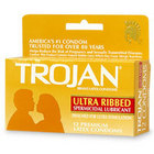 Trojan Stimulations Ultra Ribbed 12 Pack Sex Toy Product