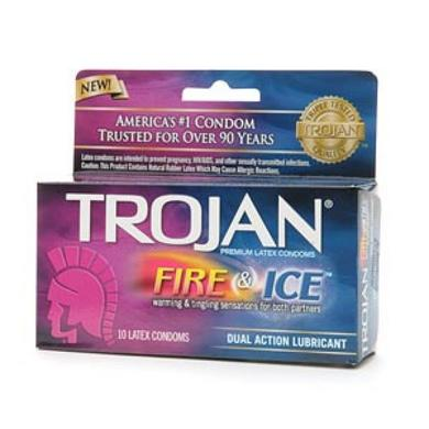 Trojan Pleasures Fire and Ice 10 Pack