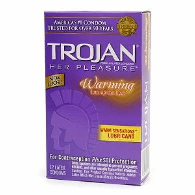 Trojan Her Pleasure Warming 12 Pack