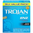 Trojan ENZ Lubricated Latex Condoms 36 Pack Sex Toy Product