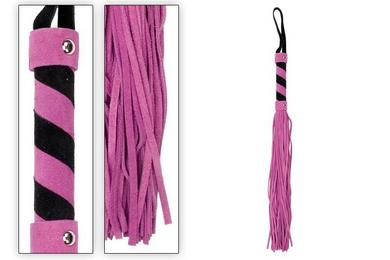 Whip Leather Purple With Black Star