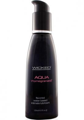 Wicked Aqua Pomegranate Lube 4 oz Sex Toy Product
