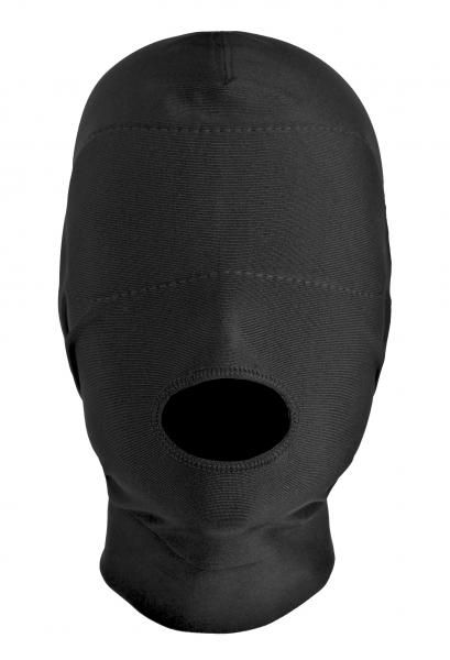 Disguise Open Mouth Hood Black Spandex O/S Sex Toy Product