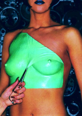 Liquid Latex fluorescent blue
