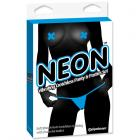 Neon Vibrating Crotchless Panty And Pasties Set Blue