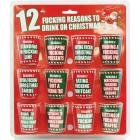 12 F*cking Reasons To Drink On Christmas 12pc Shot Glass Set Sex Toy Product