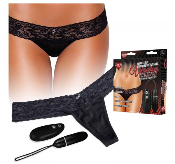 Hustler Remote Control Vibrating Panties Black S/M Sex Toy Product