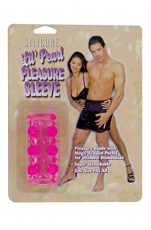 Beaded Penis Sleeve - Pink