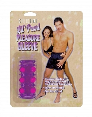 Beaded Penis Sleeve - Purple