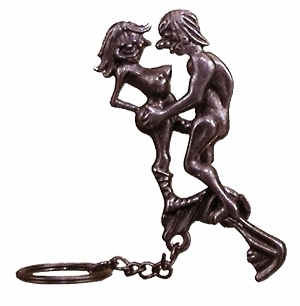 Metal Keyring (man/woman)