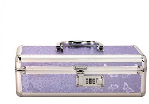 Lockable Vibrator Case Small Purple