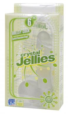 Crystal Jellies Ballsy Cock 6in